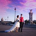 巴黎海外婚纱摄影价格价钱, 海外巴黎拍婚纱照价格价钱, 巴黎晚霞婚纱照套餐套裝价格价钱